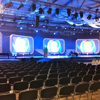 Burgenlandhalle Bühnenaufbau